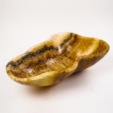 Natural Onyx Bowl From Mexico (20.5 lbs)