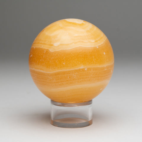 "Orange Onyx Sphere from Mexico (3.25"", 1.8 lbs)"