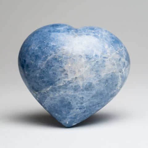Blue Calcite Heart from Mexico (589.2 grams)