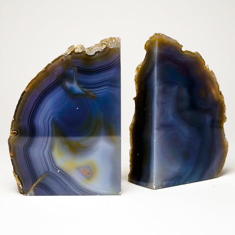 Blue Banded Agate  Bookends from Brazil (5 lbs)