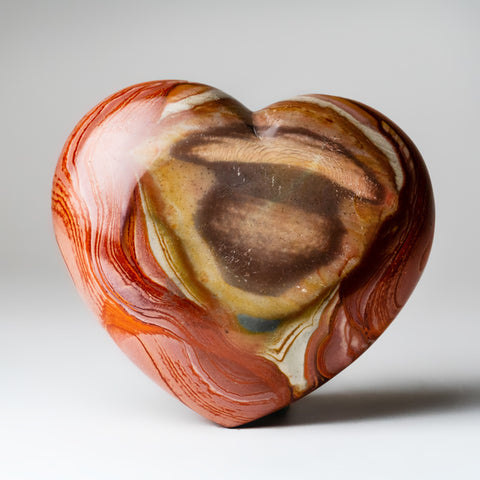 Polychrome Jasper Heart from Madagascar (2 lbs)