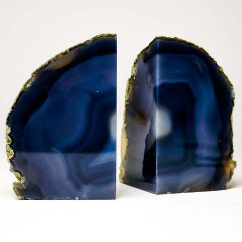Blue Banded Agate Bookends from Brazil (4.5 lbs)