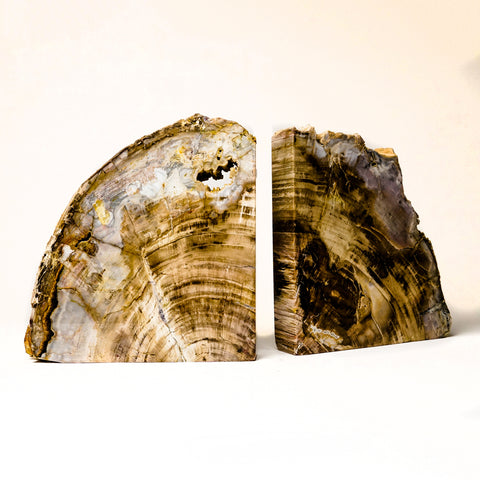 Natural Banded Agate Bookends from Brazil (19.5 lbs)