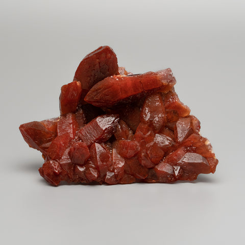 Red Quartz Hematite crystal cluster From Morocco (267.3 grams)