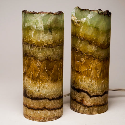 "Small Onyx Lamp Set from Mexico (8"", 2 lbs)"