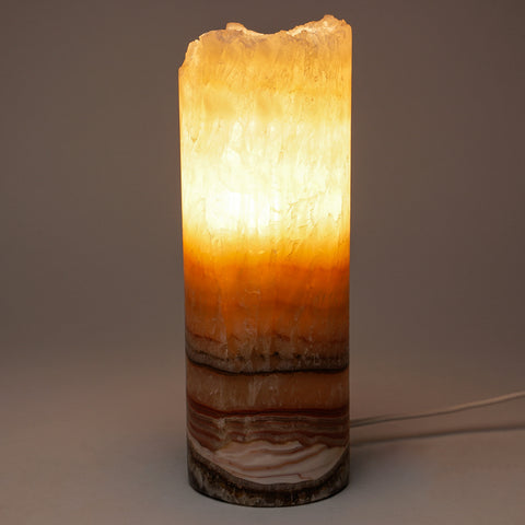 "Small Onyx Lamp from Mexico (8.5"", 3 lbs)"