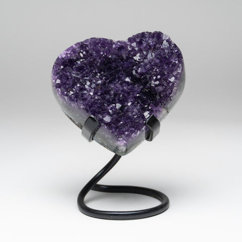 Amethyst Cluster Heart on Stand from Uruguay (1.5 lbs)