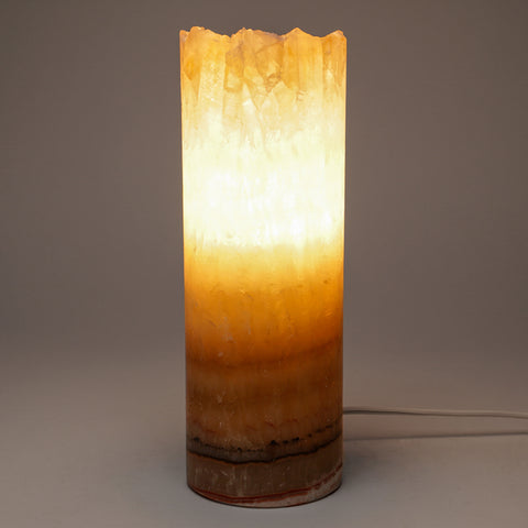 "Small Onyx Lamp from Mexico (9"", 3 lbs)"