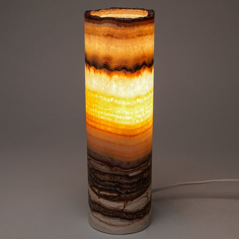"Small Onyx Lamp from Mexico (10"", 2.5 lbs)"