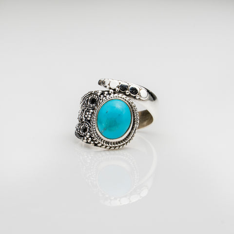 Larimar Sterling Silver Adjustable Ring (6)