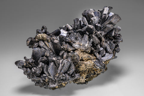 Stibnite with Chalcopyrite From Baiutz, Maramures, Romania