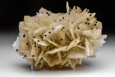Barite with Stibnite From Herja Mine, Baia Mare, Maramures, Romania