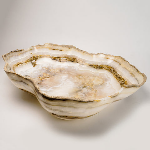 Natural Onyx Bowl From Mexico (24.5 lbs)