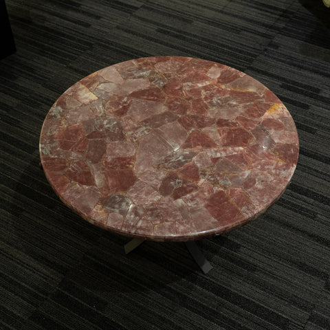 Large Polished Strawberry Quartz Table Top