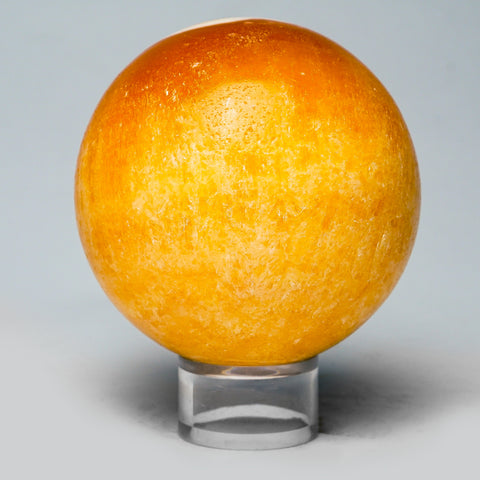 "Orange Calcite Sphere from Mexico (3 lbs, 3.5"" diameter)"