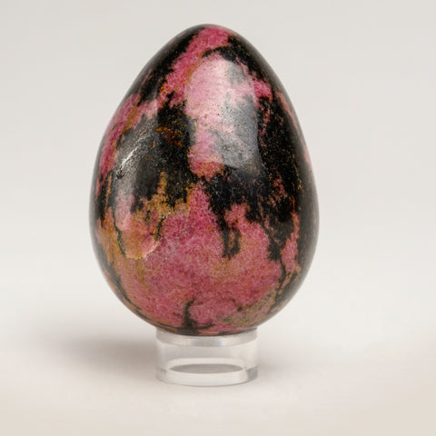 Polished Imperial Rhodonite Egg from Madagascar (3'', 463.7 grams)