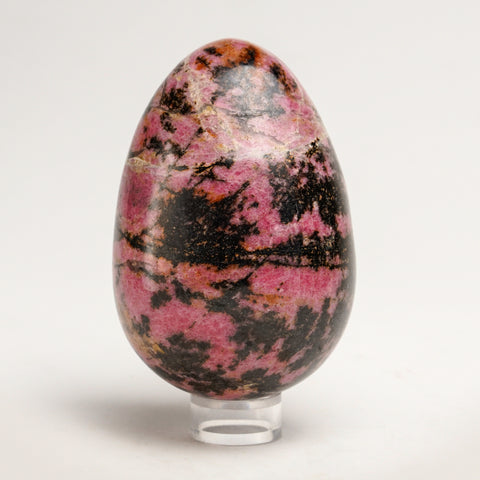 Polished Imperial Rhodonite Egg from Madagascar (3.9'', 1.8 lbs)
