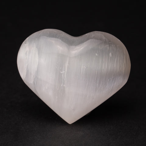 Clear Selenite Crystal Heart from Morocco (107.9 grams)
