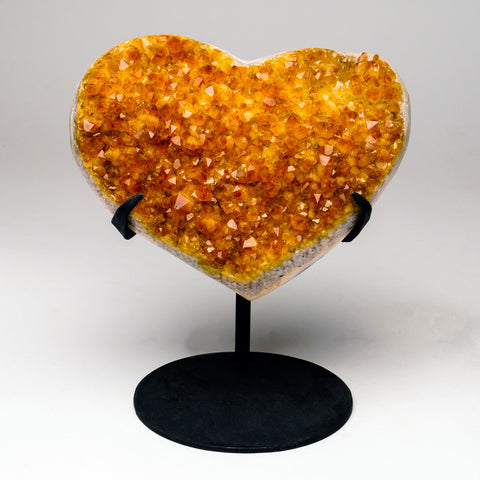 Citrine Cluster Heart from Uruguay (3 lbs)