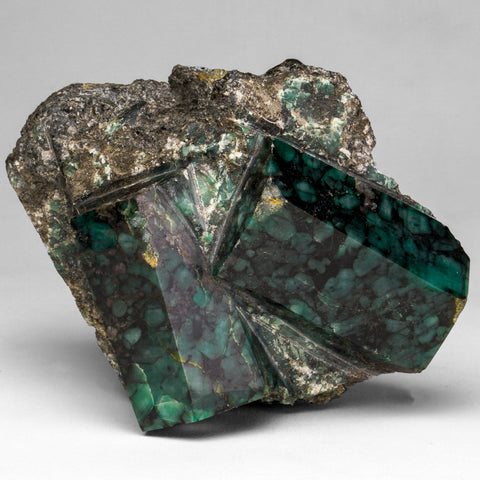 Polished Emerald In Quartz and Biotite Mica (3 lbs)