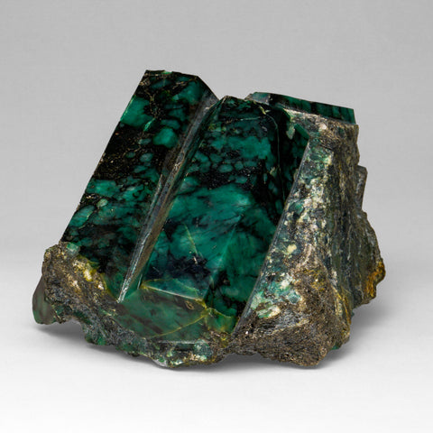Polished Emerald In Quartz and Biotite Mica (4 lbs)