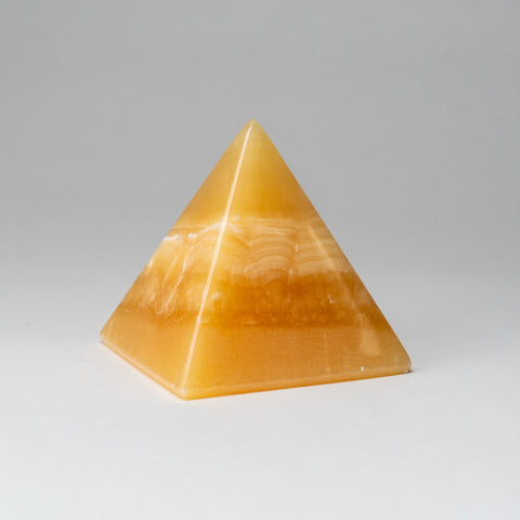 Orange Calcite Pyramid from Mxico (2 lbs)