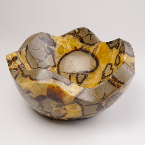 Polished Septarian Bowl from Madagascar (18 lbs)