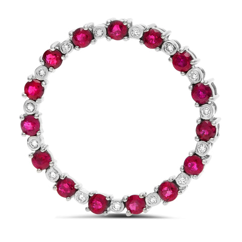 14k White Gold Ruby Pendant (GP2650-3)