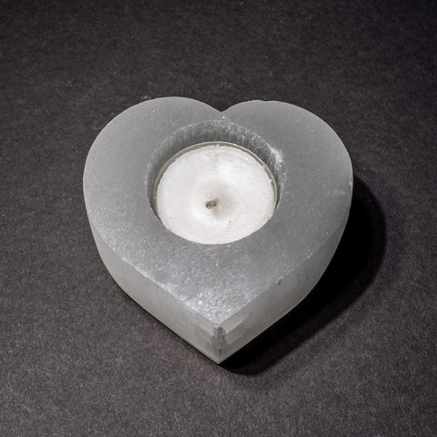 Genuine Cats Eye Selenite Candle Holder (341.7 grams)