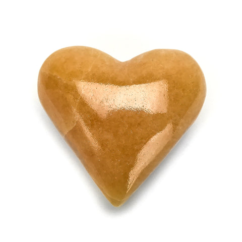 Orange Calcite Heart - Astro Gallery