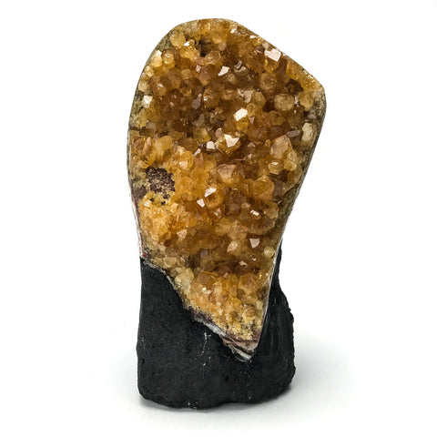 Citrine Quartz Crystal Cluster From Brazil