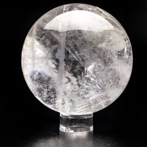"Polished Clear Quartz Sphere From Brazil (3.3"", 1.5 lbs) - Astro Gallery"