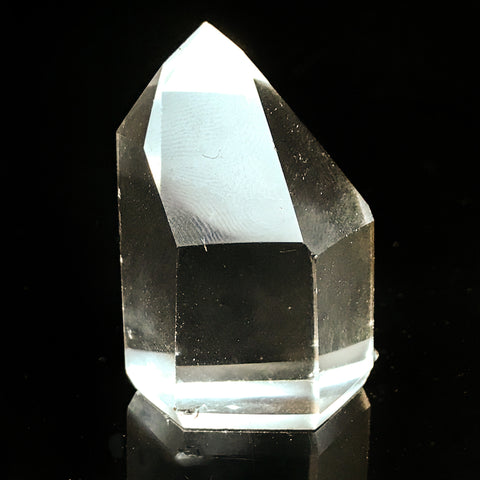 Gem Clear Quartz Polished Point From Brazil - Astro Gallery