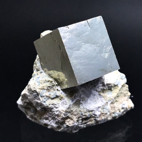 Pyrite Cube on Basalt From Navajun, Spain - Astro Gallery