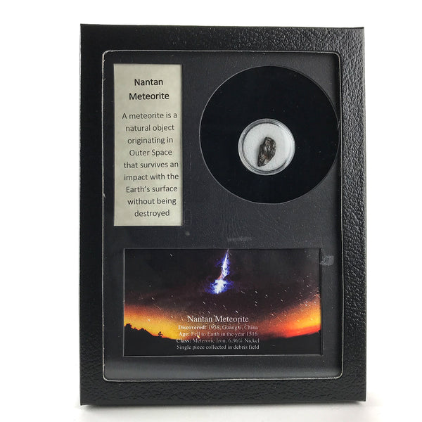 Genuine Nantan Meteorite in Glass Display Box - Astro Gallery