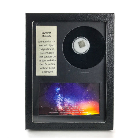 Genuine Seymchan Meteorite in Glass Display Box - Astro Gallery