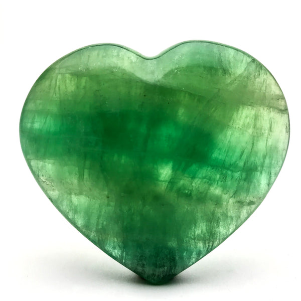 Green Fluorite Heart From Argentina - Astro Gallery