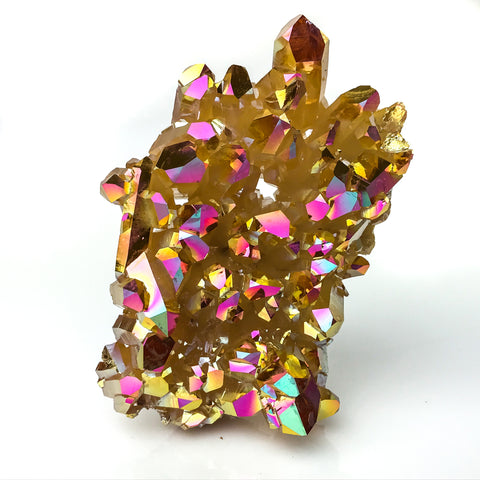 Sunset Aura Quartz Crystal Clusters (180 g) - Astro Gallery