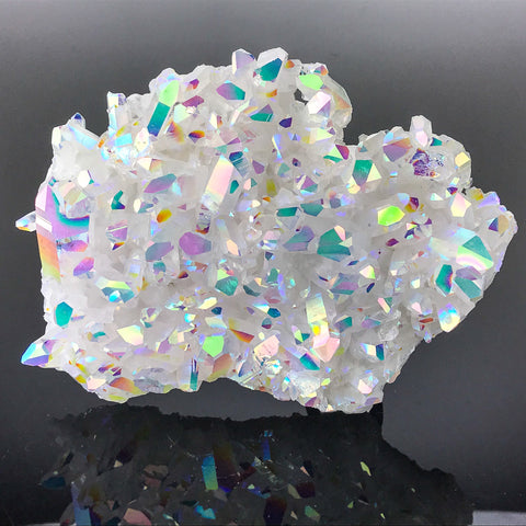Angel Aura Quartz Crystal Cluster (435 g) - Astro Gallery