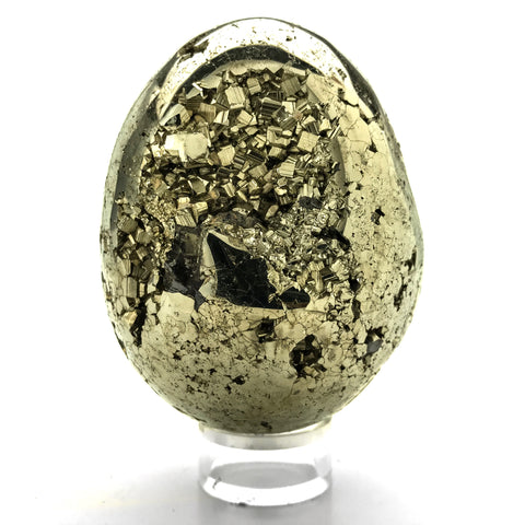 Polished Pyrite Egg - Astro Gallery