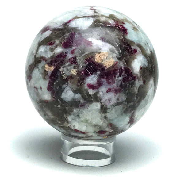 "Ruby in Quartz Sphere (2.3"") from India - Astro Gallery"