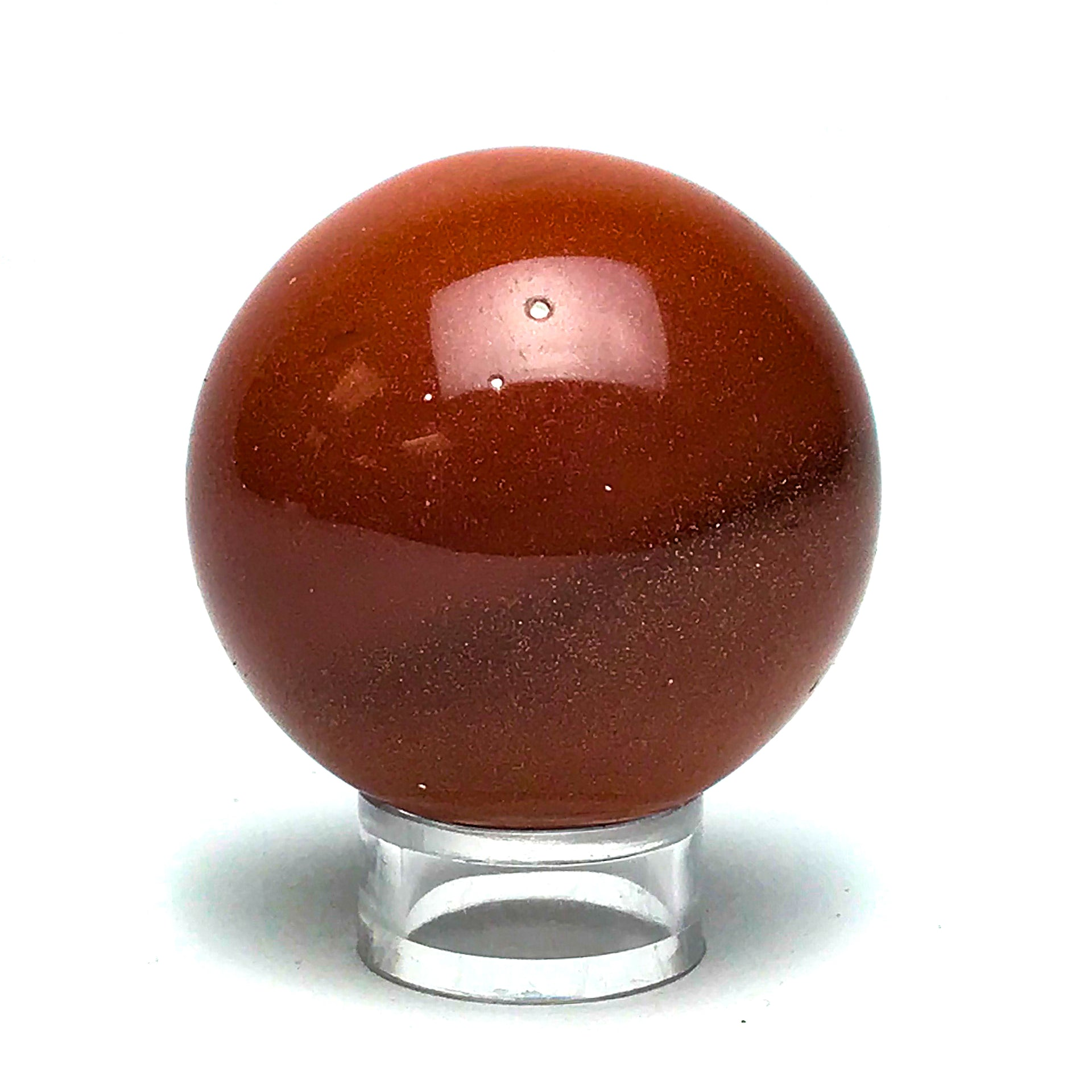 "Red Goldstone Sphere (1.9"") - Astro Gallery"