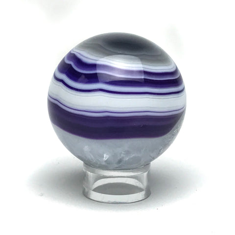 "Purple Agate Sphere (2.1"" Diameter) - Astro Gallery"