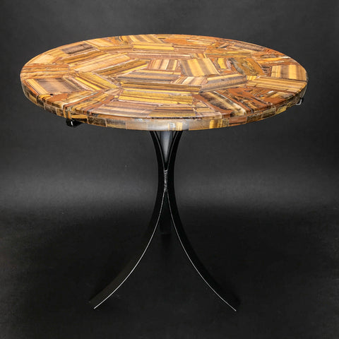 Tigers eye Round Table