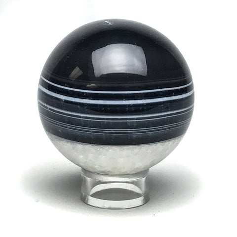 "Black Agate Sphere (2.2"" Diameter)"
