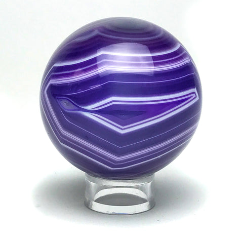 "Purple Agate Sphere (2.2"" Diameter) - Astro Gallery"