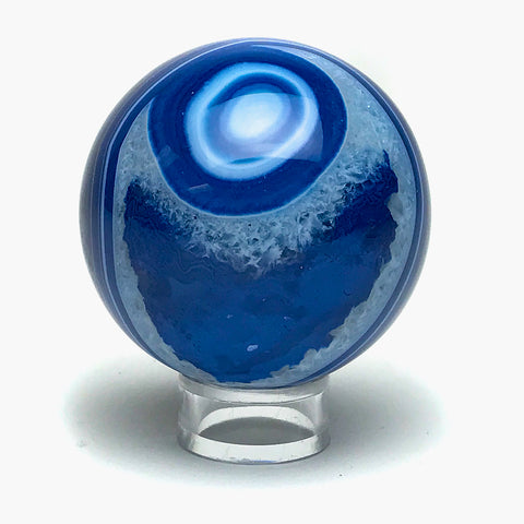 "Blue Agate Sphere (2.2"" Diameter)"