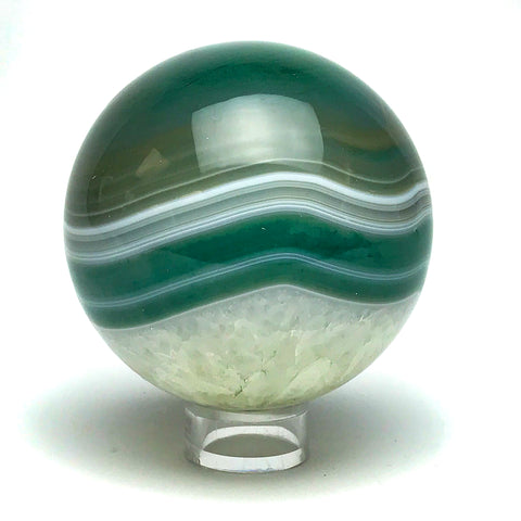 "Green Agate Sphere (2.8"" Diameter) - Astro Gallery"