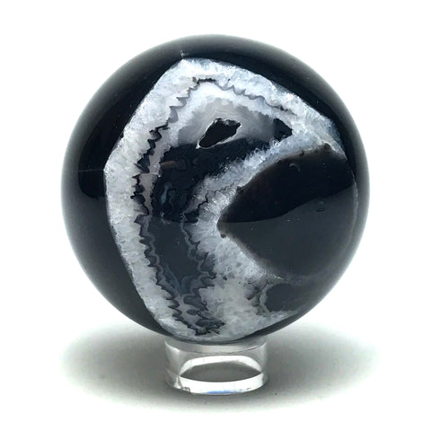 "Black Agate Sphere (2.8"" Diameter)"