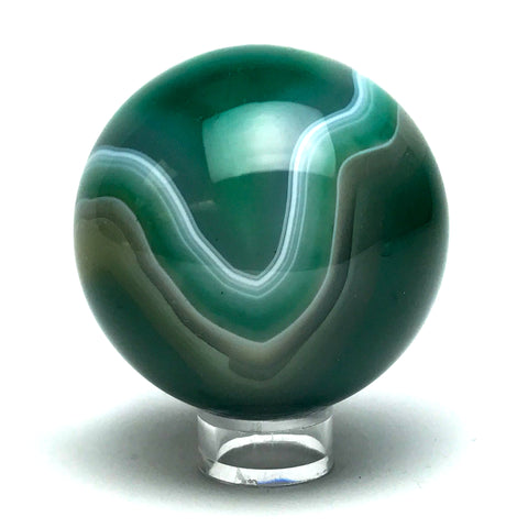 "Green Agate Sphere (2.6"" Diameter) - Astro Gallery"